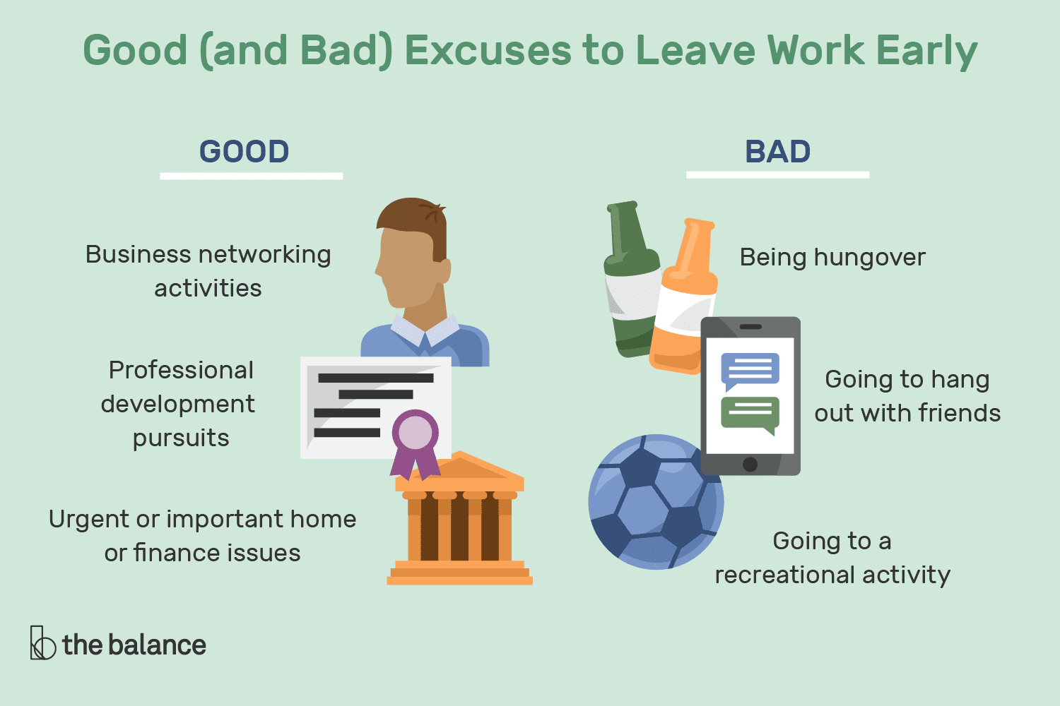 Reasons To Leave Work Early Good And Bad Excuses