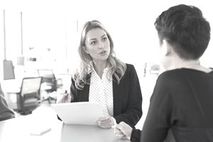 Hiring manager discusses background of potential employee