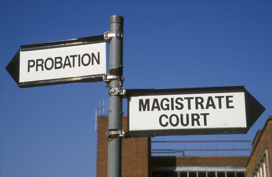 Probation and magistrate court signs