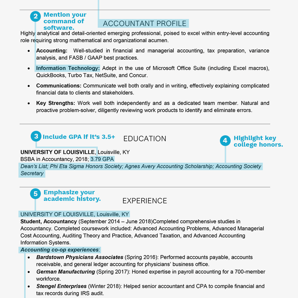 Resume Example For College Students And Graduates Text Version
