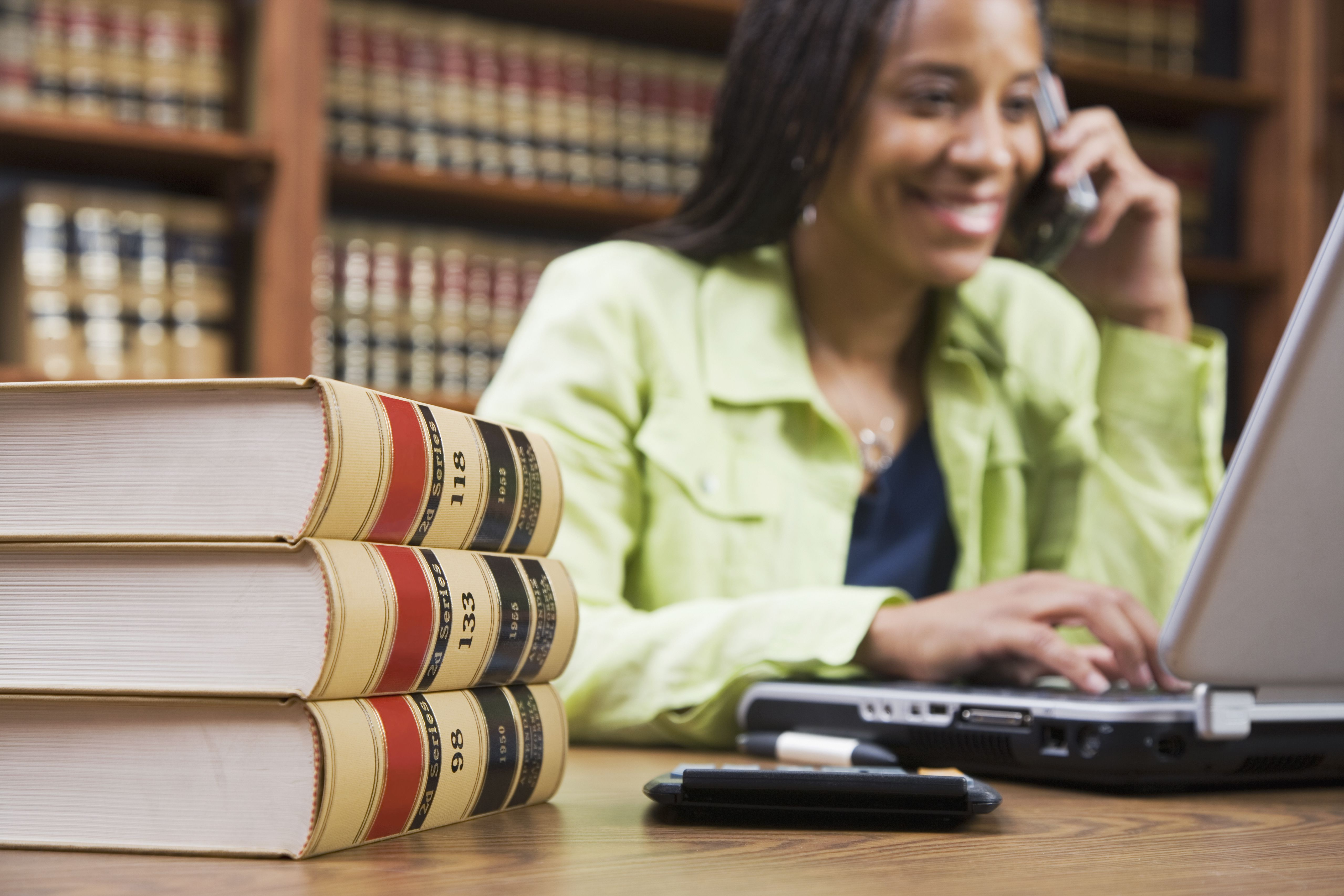 Paralegal interviewing a witness by phone
