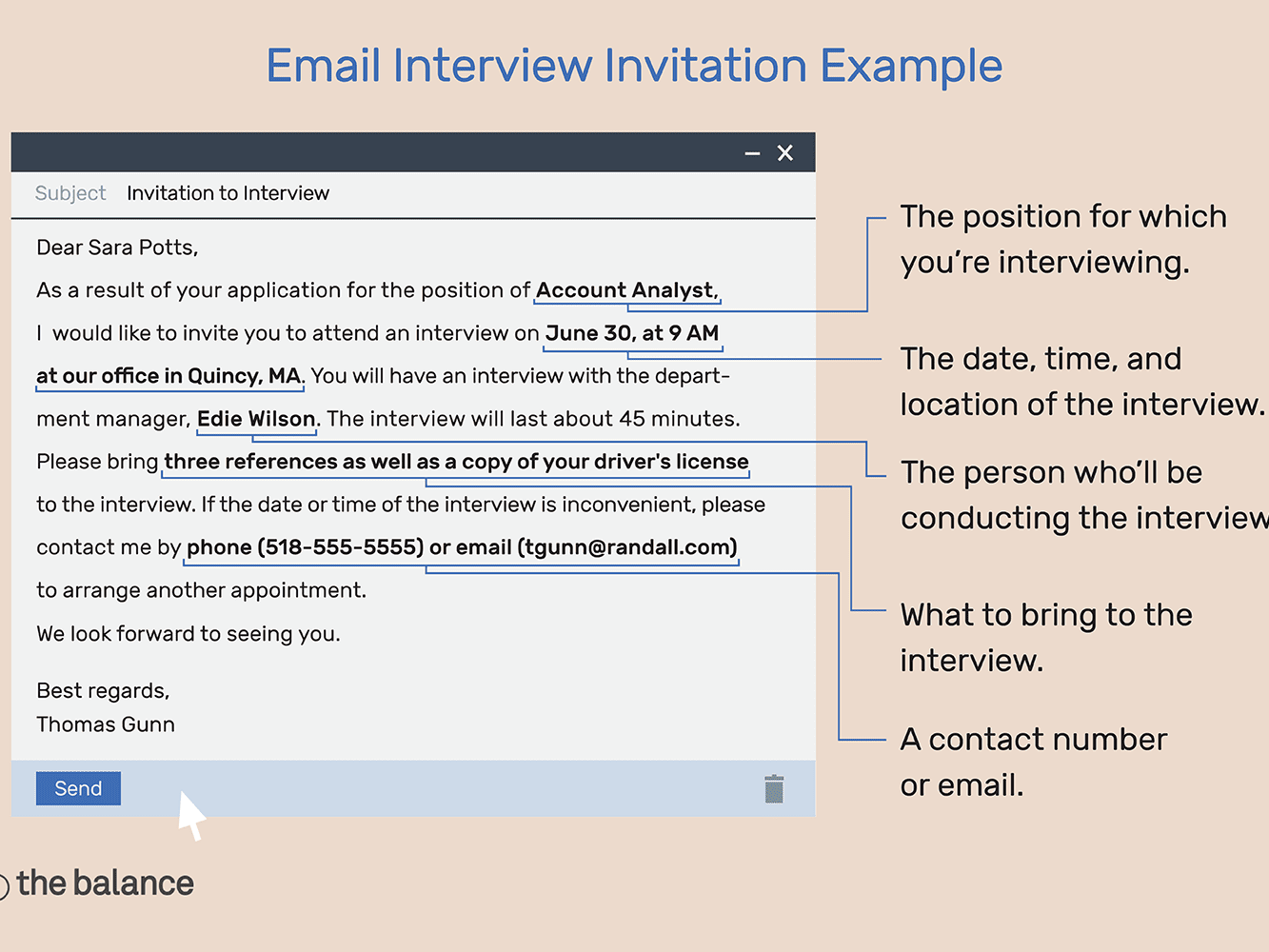 Email Interview Invitation Example