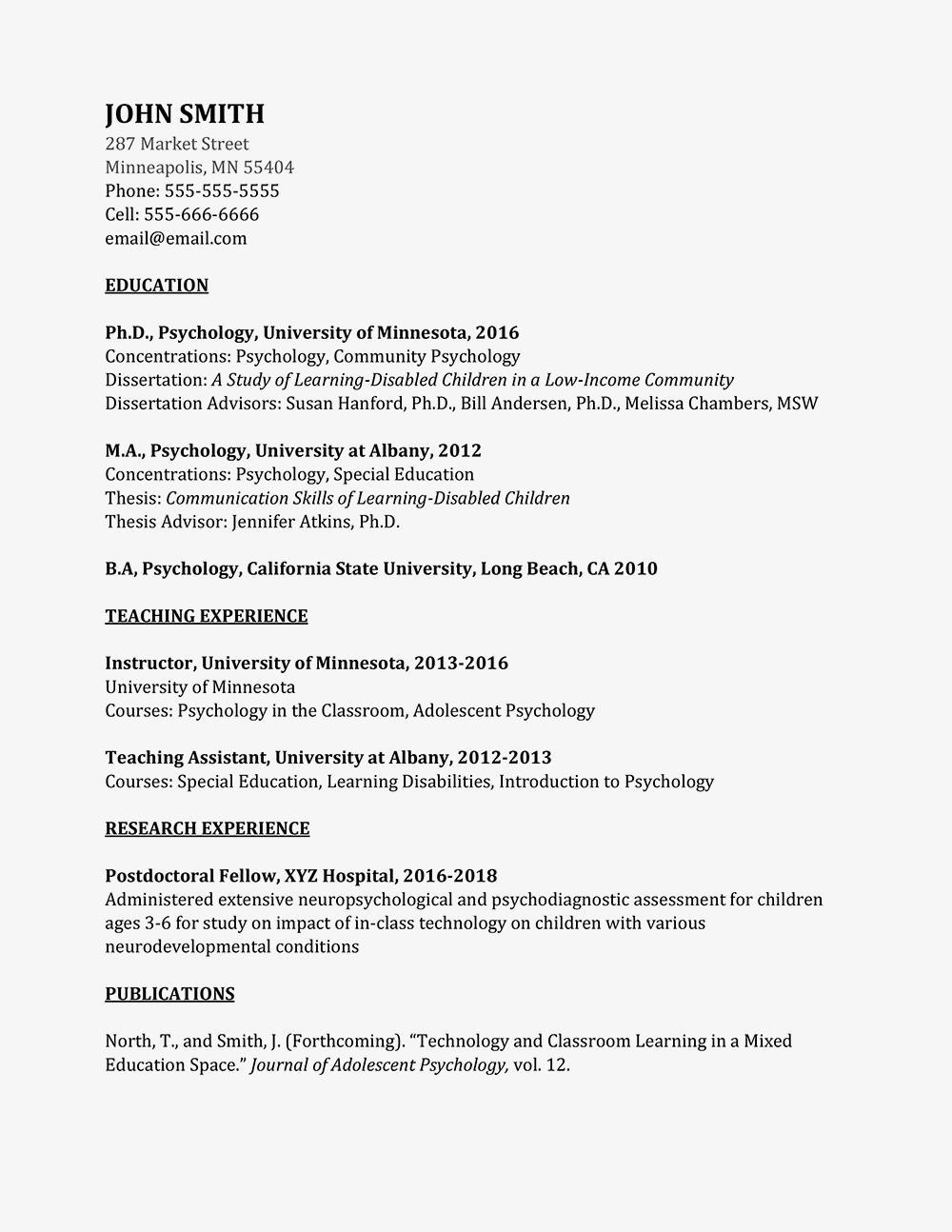 academic curriculum vitae cv example and writing tips  short essays for high school students also high school entrance essay examples essay about english language