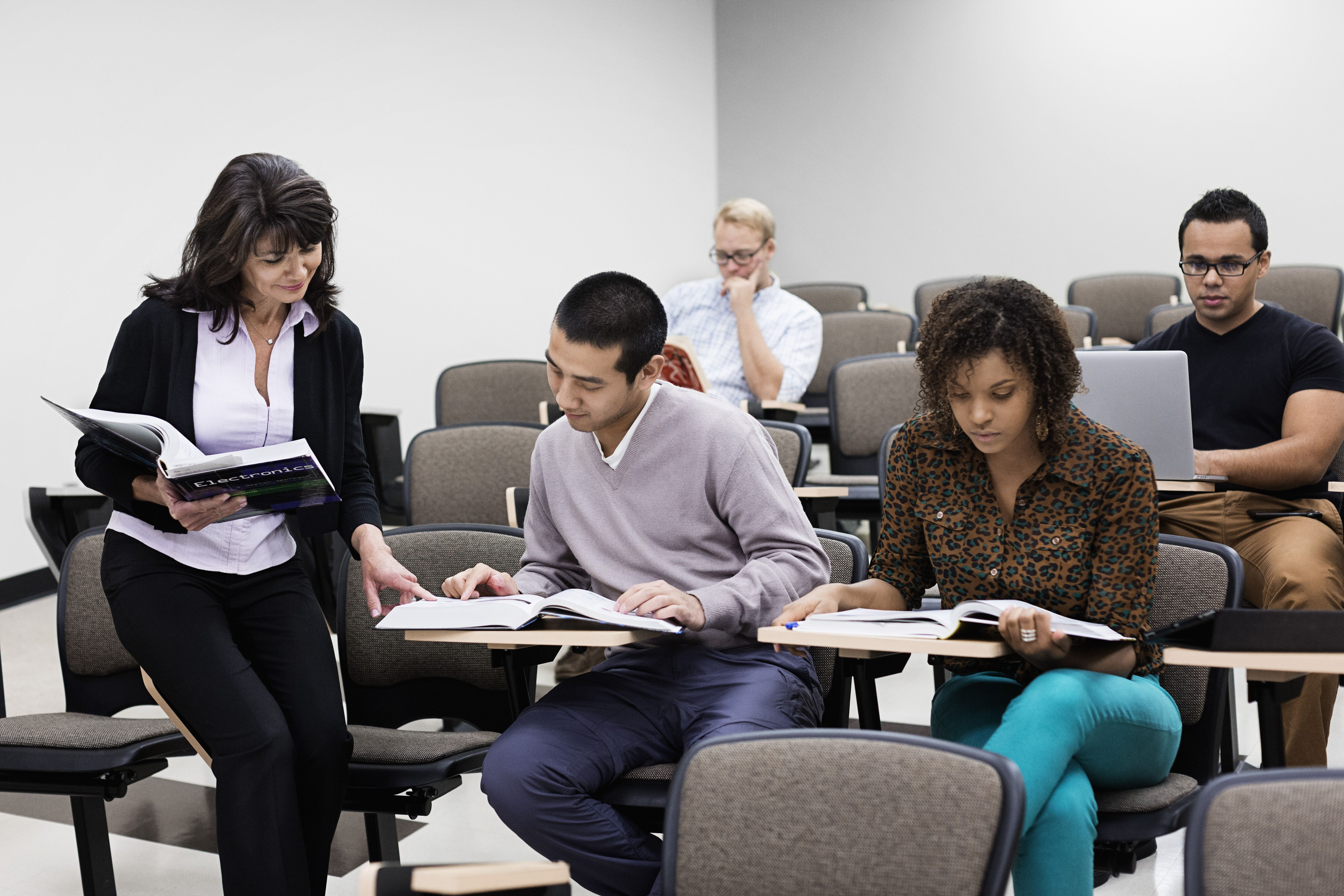 Social Work Students in Classroom