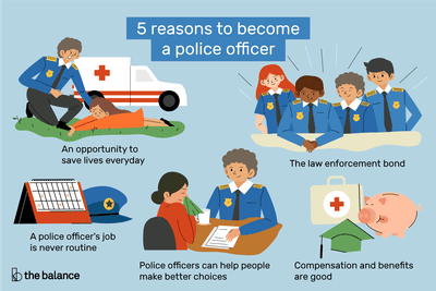 reasons to become a police officer infographic