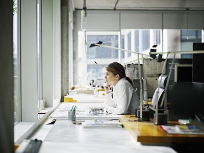 Young architect in office