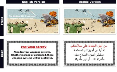 Coalition Aircraft Continue To Drop Leaflets Over Iraq
