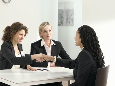 Employee being promoted at work