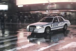 NYPD car in Times Square
