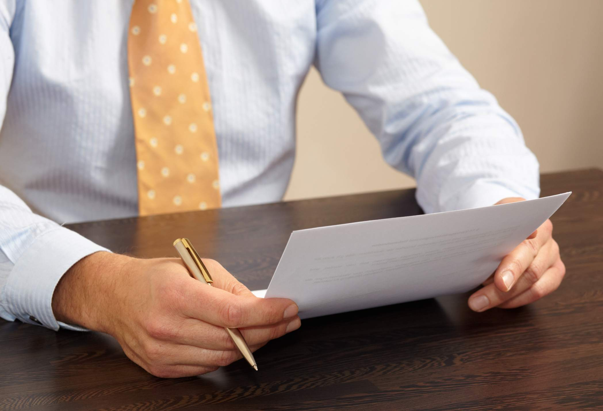 businessman with letter