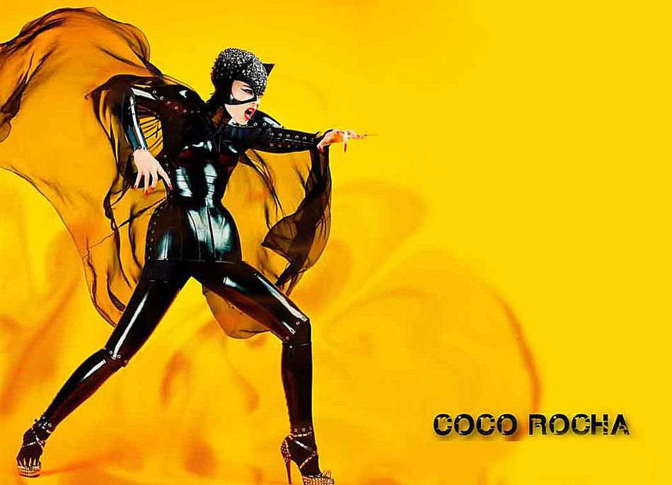Coco Rocha Supermodel Cat Woman