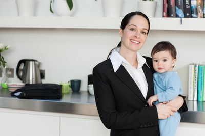 Business Woman With Baby