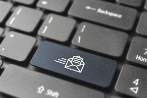 New business mail button on computer keyboard