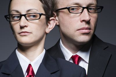 portrait of matching man and woman