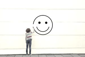Smile on wall