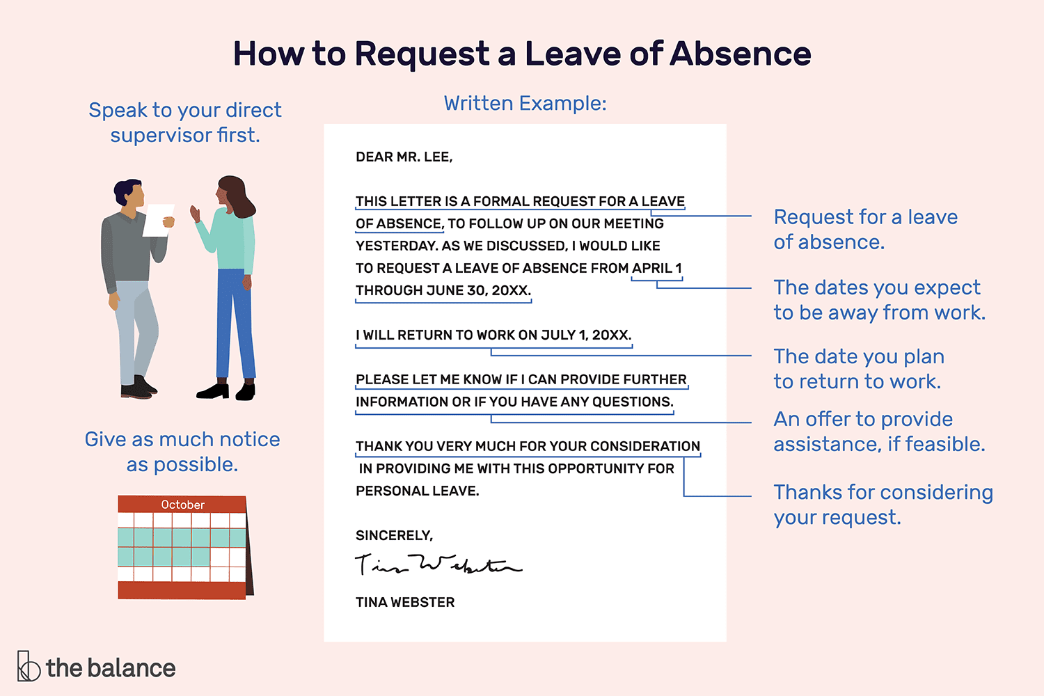 formal leave application sample