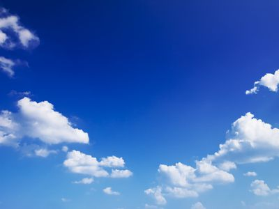 Blue sky with a few clouds
