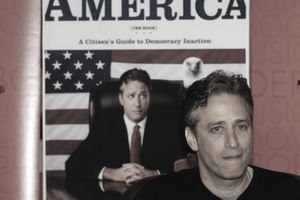 Jon Stewart Signs Copies of his Book 'America The Book - A Citizen's Guide To Democracy Inaction'