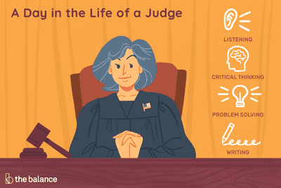 A day in the life of a judge: Listening, critical thinking, problem solving, writing