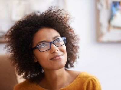 Woman thinking about choosing the right career