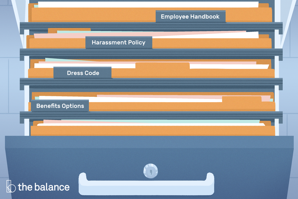 This illustration regards important topics around HR policy and procedure and includes