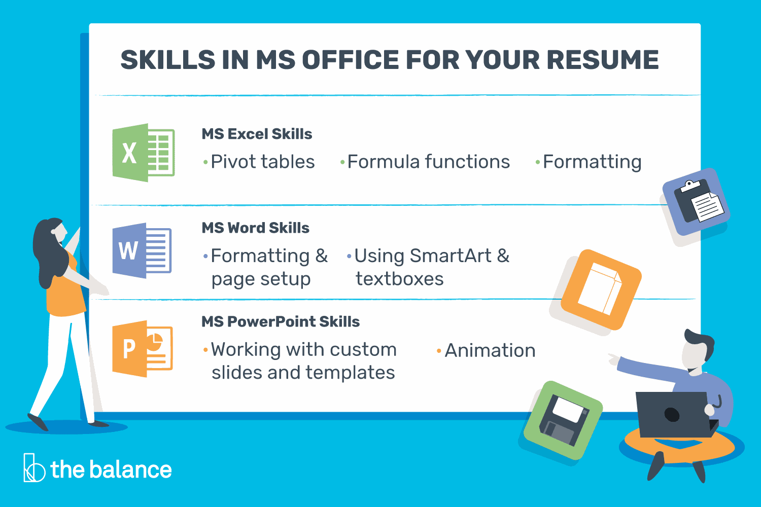 microsoft office skills for resumes