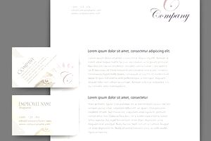 Business letter drafted on company letterhead with cards
