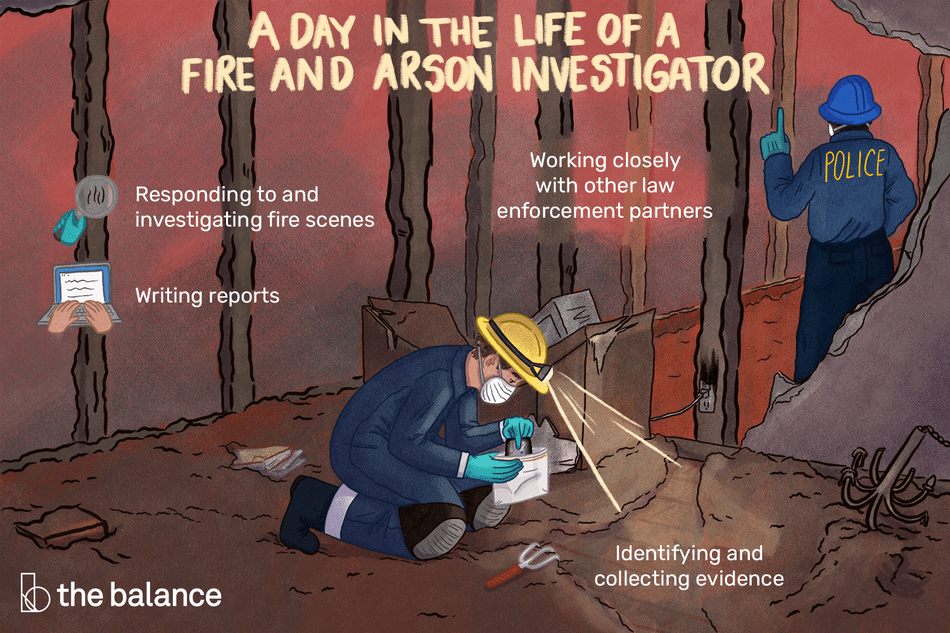 A day in the life of a fire and arson investigator: Responding to and investigating fire scenes, working closely with other law enforcement partners, identifying and collecting evidence, writing reports