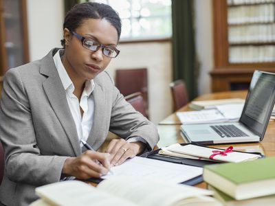 Woman working in a litigation support office