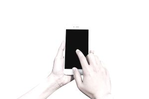 hands modeling an iPhone