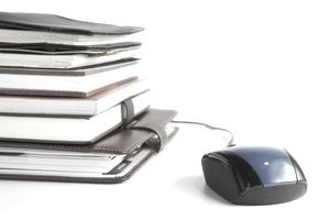 Books with a Computer Mouse for Digital Rights Article