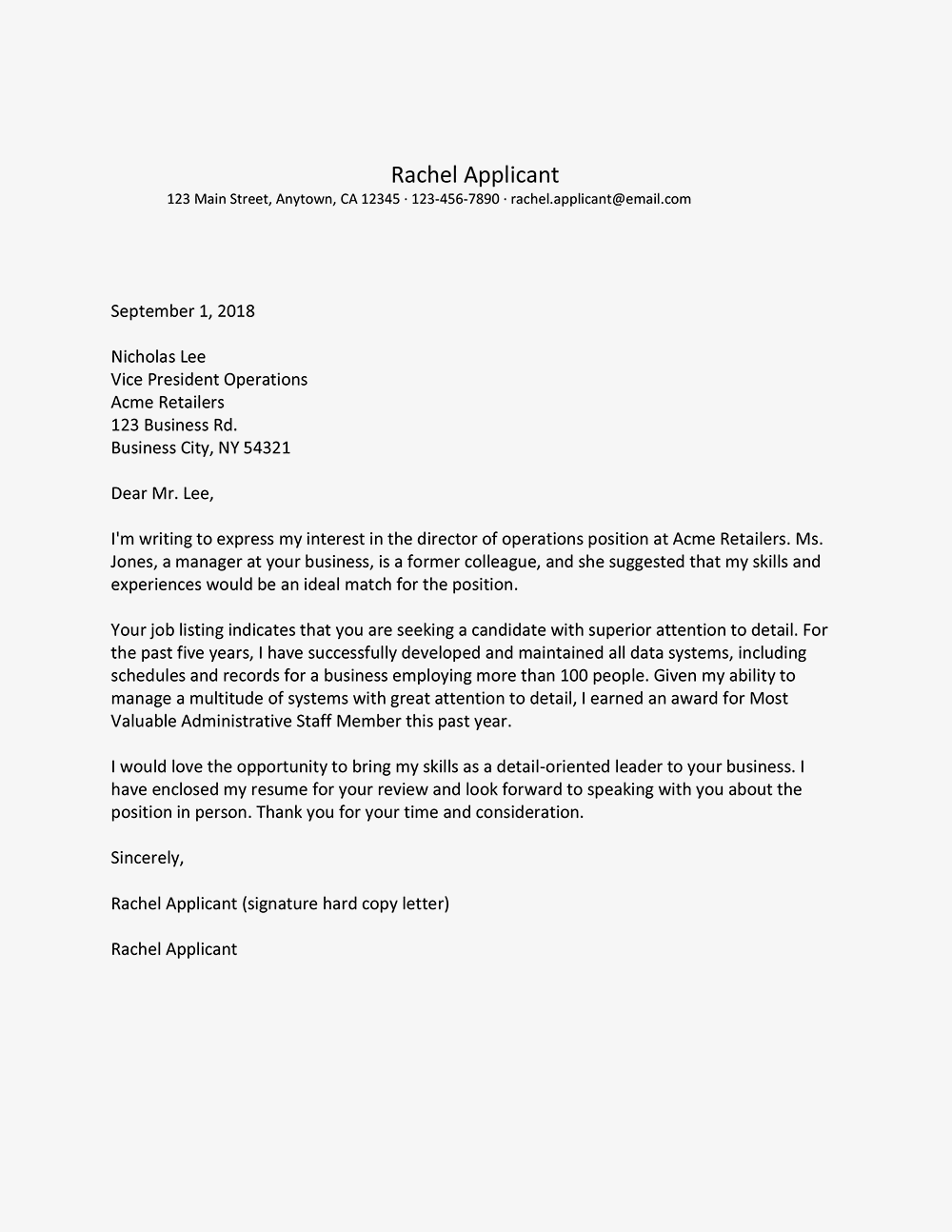 director of operations cover letter example - Director Of Operations Resume