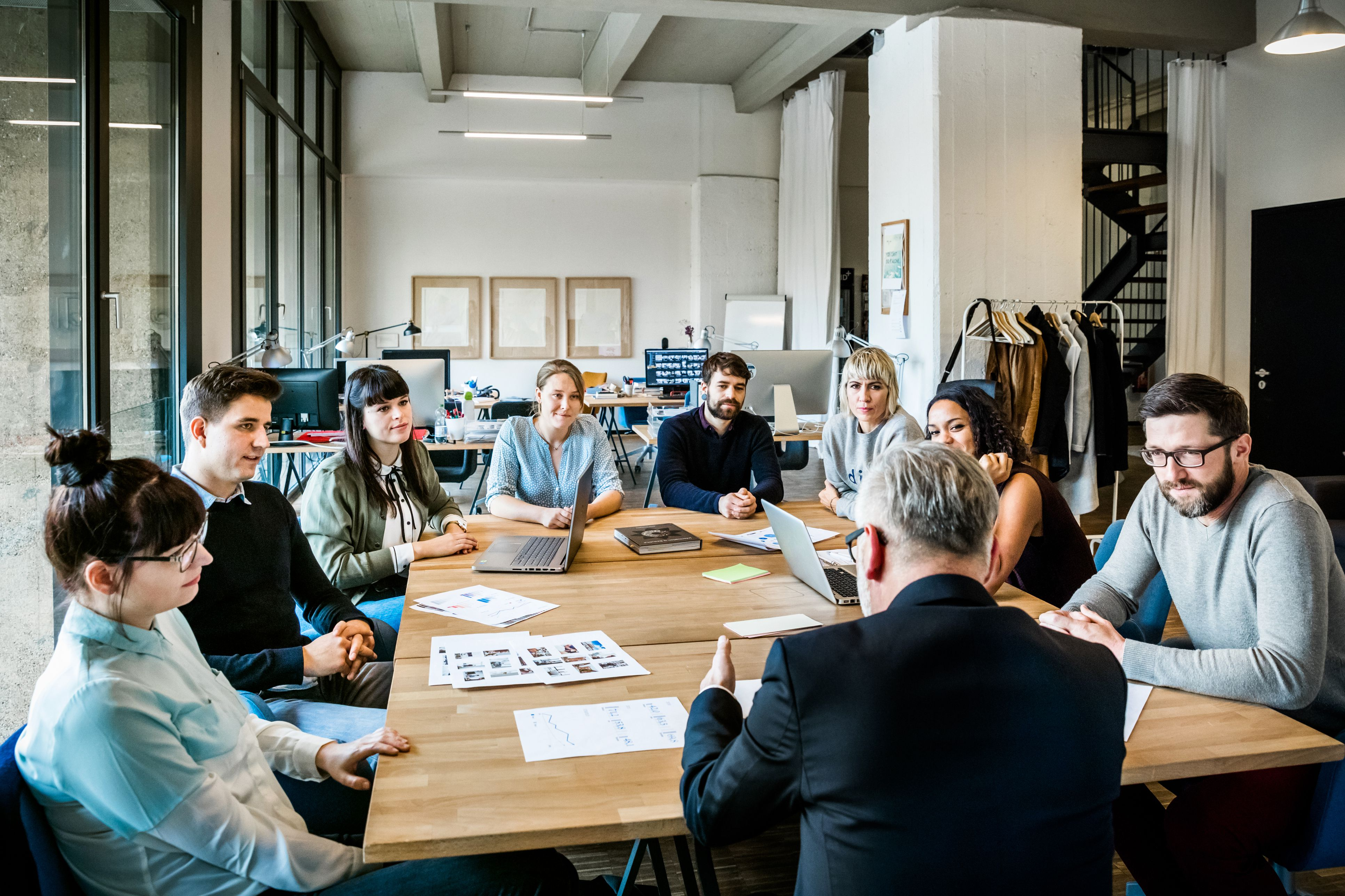New business meeting on a conference table