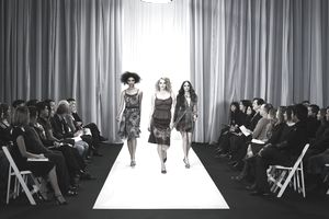 Supermodels on the runway
