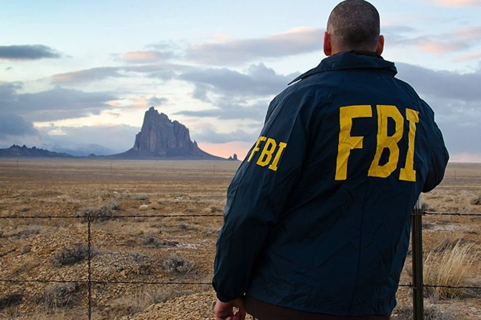 """""""A special agent overlooks the Shiprock land formation on the Navajo Nation in New Mexico. The reservation, the largest in the country, is one of about 200 federally recognized Indian reservations where the FBI has investigative responsibilities."""""""