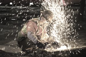 Welder using an oxy-acetylene cutting torch