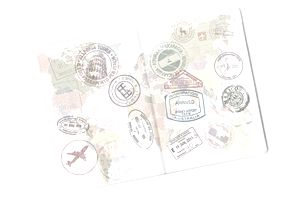 Passport with a lot of stamps