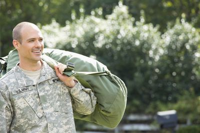 Soldier returning home