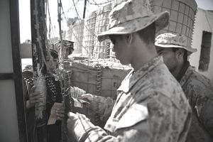 A US Marine from 1st Battalion, 8th Mari