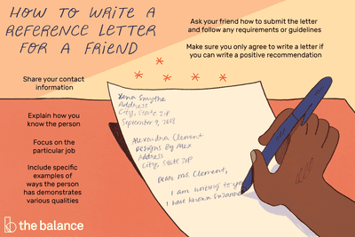 How To Write A Reference Letter For A Friend