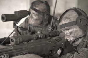 Special Operation Forces sniper and spotter