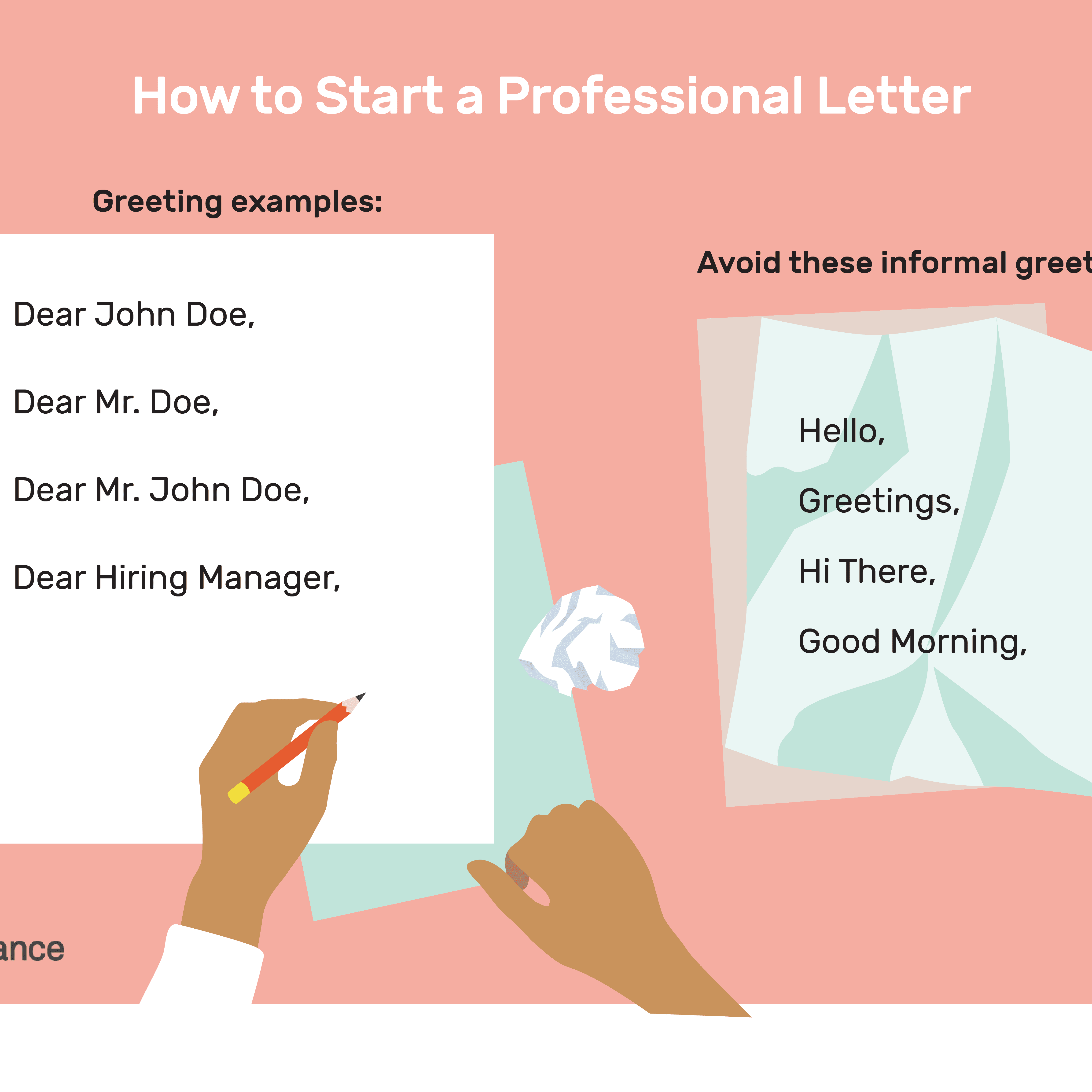 Dear In A Letter from www.thebalancecareers.com