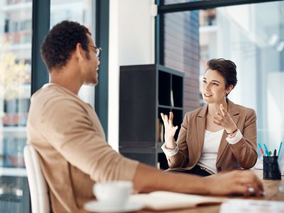 Person meeting with interview coach