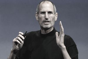 Steve Job speaking at an Apple event