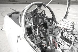 Air Force jet cockpit