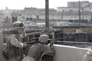 U.S. Marines Take On Counter-Offensive In Fallujah