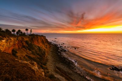 Sunset on a cliff in California