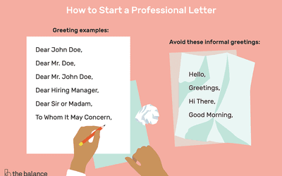 the best way to start a letter with examples