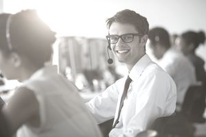 Male Call Center Worker