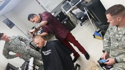 Army Soldiers haircut